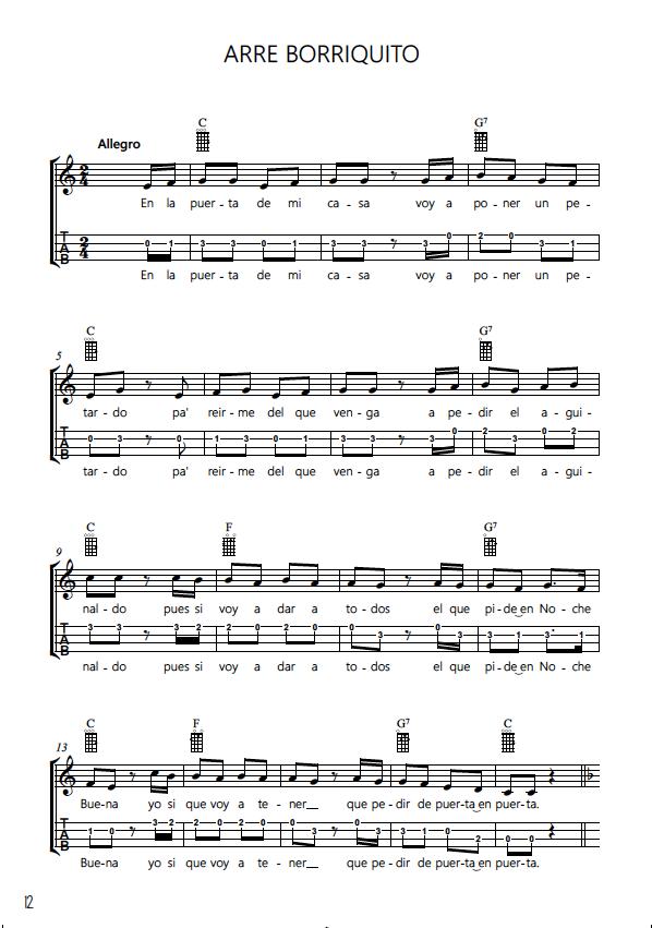 Cancionero Popular tradicional Villancicos para Ukelele